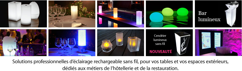 lampes sans fil LED rechargeable ADS lighting
